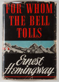 """Books:Literature 1900-up, Ernest Hemingway. For Whom the Bells Tolls. New York:Charles Scribner's Sons, 1940. First edition, with """"A"""" on cop..."""