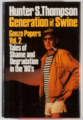 Books:Signed Editions, Hunter S. Thompson. SIGNED. Generation of Swine. New York: Summit Books, [1988]. First edition, first printing. ...