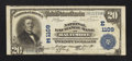National Bank Notes:Maryland, Baltimore, MD - $20 1902 Plain Back Fr. 650 The National ExchangeBank Ch. # (E)1109. ...