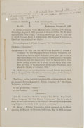 Miscellaneous:Booklets, [Civil War Court Martial] General Orders No. 380....