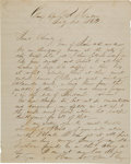 Miscellaneous:Ephemera, [Civil War] Union Soldier Letter from the Siege of Port Hudson....