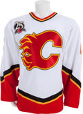 Hockey Collectibles:Uniforms, 2005-06 Tony Amonte Game Worn Calgary Flames Jersey....