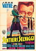 "Movie Posters:Western, The Searchers (Warner Brothers, 1956). Italian 2 - Foglio (39"" X55"").. ..."