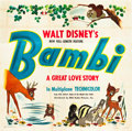 "Movie Posters:Animation, Bambi (RKO, 1942). Six Sheet (81"" X 81"").. ..."