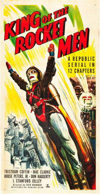 "King of the Rocket Men (Republic, 1949). Three Sheet (41"" X 81"")"