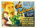 "Movie Posters:Drama, The Informer (RKO, 1935). Half Sheet (22"" X 28"").. ..."