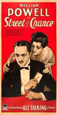 "Movie Posters:Drama, Street of Chance (Paramount, 1930). Three Sheet (40"" X 79.5"").. ..."