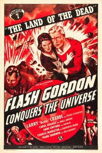 "Flash Gordon Conquers the Universe (Universal, 1940). One Sheet (27"" X 41"") Chapter 7 -- ""The Land of the..."