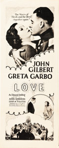 "Movie Posters:Drama, Love (MGM, 1927). Insert (14"" X 36"").. ..."