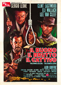"Movie Posters:Western, The Good, the Bad and the Ugly (PEA, R-1969). Italian 4 - Foglio(55"" X 78"").. ..."