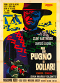 "Movie Posters:Western, A Fistful of Dollars (Unidis, R-1968). Italian 4 - Foglio (39"" X55"").. ..."