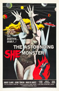 "Movie Posters:Science Fiction, The Astounding She Monster (American International, 1958). OneSheet (27"" X 41"").. ..."