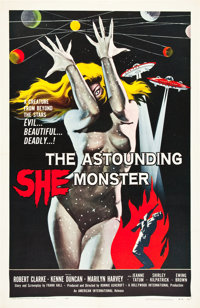 "The Astounding She Monster (American International, 1958). One Sheet (27"" X 41"")"