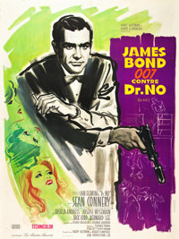 "Dr. No (United Artists, 1962). French Grande (47"" X 63"")"