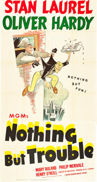 "Nothing but Trouble (MGM, 1944). Three Sheet (41"" X 81"")"