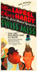 "Movie Posters:Comedy, Swiss Miss (MGM, 1938). Three Sheet (41"" X 81"") Style A.. ..."
