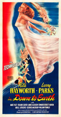"Movie Posters:Musical, Down to Earth (Columbia, 1947). Three Sheet (41"" X 81"").. ..."