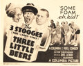 "Movie Posters:Comedy, The Three Stooges in Three Little Beers (Columbia, 1935). TitleLobby Card (11"" X 14"").. ..."