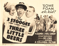 "The Three Stooges in Three Little Beers (Columbia, 1935). Title Lobby Card (11"" X 14"")"