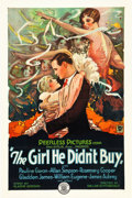 "Movie Posters:Romance, The Girl He Didn't Buy (Peerless Pictures, 1928). One Sheet (27"" X41"") Style A.. ..."
