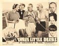 "Movie Posters:Comedy, The Three Stooges in Three Little Beers (Columbia, 1935). LobbyCard (11"" X 14"").. ..."