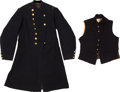 Militaria:Uniforms, Very Scarce Civil War Engineer Officer's Frock Coat and Vest....