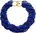 Estate Jewelry:Necklaces, Lapis Lazuli, Gold Necklace, Angela Cummings, Tiffany & Co.. ...