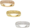 Estate Jewelry:Rings, Colored Diamond, Diamond, Gold Rings. ...