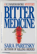 Books:Mystery & Detective Fiction, Sara Peretsky. SIGNED. Bitter Medicine. New York: William Morrow, [1987]. First edition. Signed by the author...
