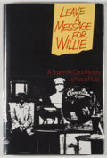 Books:Mystery & Detective Fiction, Marcia Muller. Leave a Message for Willie. New York: St. martin's Press, [1984]. First edition. Octavo. 152 page...