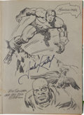 Golden Age (1938-1955):Superhero, Jack Kirby's Adventure Comics #82-90 Bound Volume With Interior Sketches Signed by Him (DC, 1943-44)....