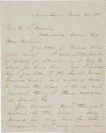 "Military & Patriotic:Indian Wars, Civil War: General William Tecumseh Sherman Autograph LetterSigned, ""W. T. Sherman"", four integral pages writte..."