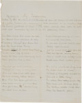 Miscellaneous:Ephemera, [Civil War] Prisoner of War Poem....