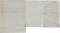 Autographs:Military Figures, [Civil War] Group of Three Union Letters including:... (Total: 3 Items)