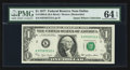 Error Notes:Error Group Lots, Fr. 1909-K $1 1977 Federal Reserve Note. PMG Choice Uncirculated 64EPQ; Fr. 1911-K $1 1981 Federal Reserve Note. PCGS Gem New...(Total: 3 notes)