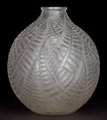 Art Glass:Lalique, R. LALIQUE CLEAR AND FROSTED GLASS ESPALION VASE . Circa1927. Engraved: R. Lalique, France, 996. 7-1/4 inch...