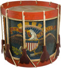 Military & Patriotic:Civil War, Exceptional Condition C.1859 Regulation US Marine Corps Eagle Drum....