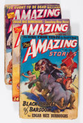 Pulps:Science Fiction, Amazing Stories Edgar Rice Burroughs Group (Ziff-Davis, 1941)....(Total: 3 )