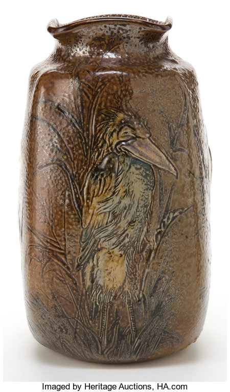 A MARTIN BROTHERS STONEWARE VASE  Martin Brothers, London, England, 1894 Marks: Martin Bros, London, Southall, 9-1894...