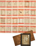 "Baseball Cards:Sets, ""One of a Kind"" Early 20th Century Original Hand Drawn BaseballCard Set (539 Total Pieces). ..."