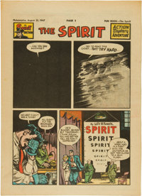 The Spirit Large Tabloid Section dated 8/31/47 (Philadelphia Bulletin, 1947) Condition: VF