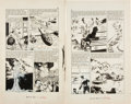 Original Comic Art:Panel Pages, George Evans and Norman Nodel Classic Illustrated Special Issue #166 A World War II page 39 and 56 Ori... (Total: 2 Original Art)