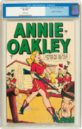 Golden Age (1938-1955):Western, Annie Oakley #1 (Timely/Atlas, 1948) CGC VF 8.0 Off-white pages....
