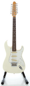 Musical Instruments:Electric Guitars, Circa 1988 MIJ Fender Stratocaster XII 12-String White Solid BodyElectric Guitar, Serial # E838733....