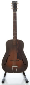 Musical Instruments:Acoustic Guitars, 1930's Recording King Sunburst Archtop Acoustic Guitar....