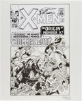 Original Comic Art:Covers, George Tuska X-Men #12 Cover Re-Creation Original Art(undated)....