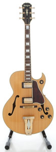 Musical Instruments:Electric Guitars, Circa late 1970's Ibanez Halifax L-5C Copy Natural Archtop Electric Guitar....