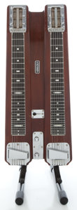 Musical Instruments:Lap Steel Guitars, 1950's Fender Professional Double 6 Walnut Table Steel Guitar,Serial # 1753....
