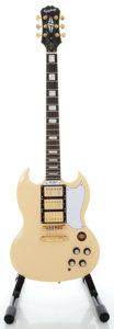 Musical Instruments:Electric Guitars, 2006 Epiphone G-400 Custom Antique Ivory Electric Guitar # EE06093492...