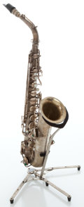 Musical Instruments:Horns & Wind Instruments, Circa 1922 Conn Silver Alto Saxophone, Serial # 69667....